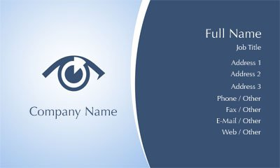 Optometrist Business Card Template